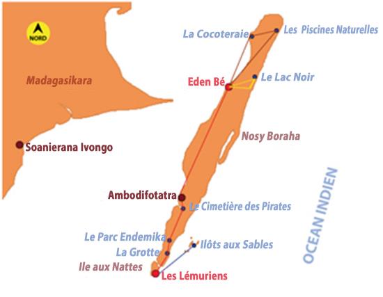 Circuit Sainte Marie et Iles aux Nattes