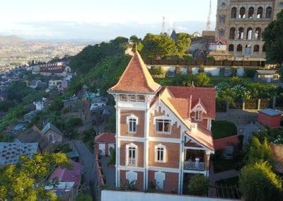 Vue panoramique sur le palais